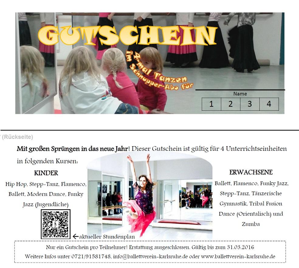 Gutschein Ballettverein Karlsruhe