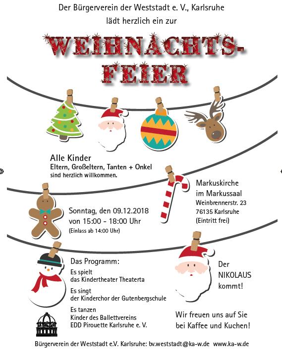Weihnachtsfeier Karlsruhe.Tanzauftritte Bei Weihnachtsfeier Des Bürgervereins Der Weststadt Am
